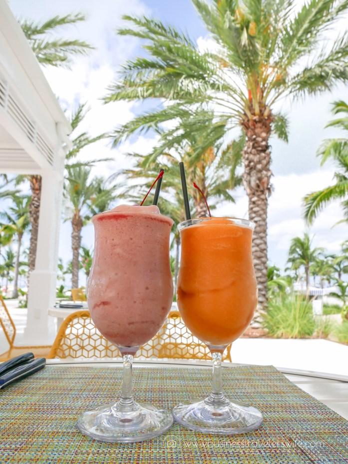 Grand Hyatt Baha Mar - A Grand Vacation in Nassau Bahamas Drift Bar and Grill Dacquiris
