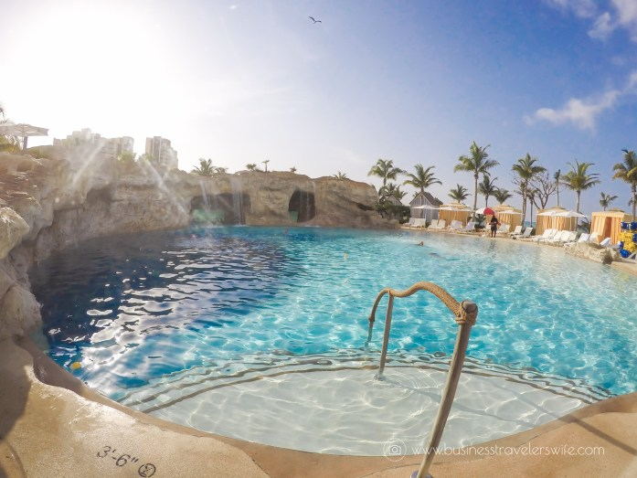 Grand Hyatt Baha Mar - A Grand Vacation in Nassau Bahamas Pool Rock Jump Aquarium