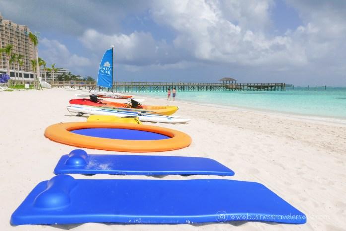 Grand Hyatt Baha Mar - A Grand Vacation in Nassau Bahamas beach non-motorized watersport