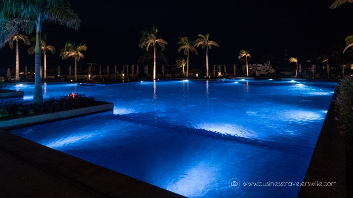 Experience the All-Inclusive Resort at Hyatt Ziva Cancun pools at night