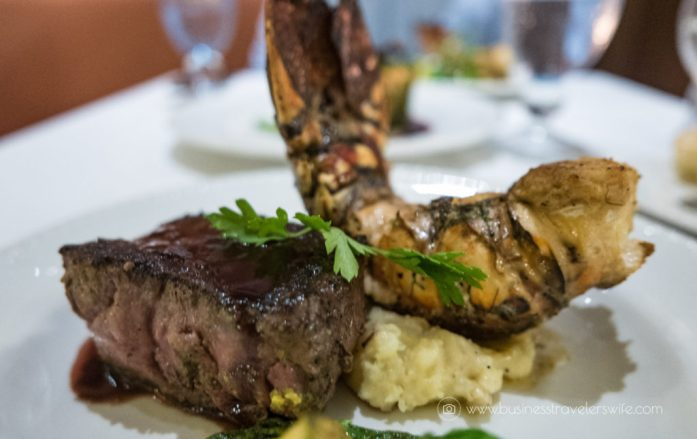 Experience the All-Inclusive Resort at Hyatt Ziva Cancun La Bastille surf and turf steak lobster tail