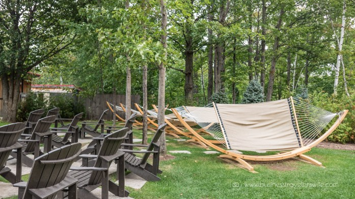 Relaxing Getaway at Scandinave Spa Blue Mountain hammocks