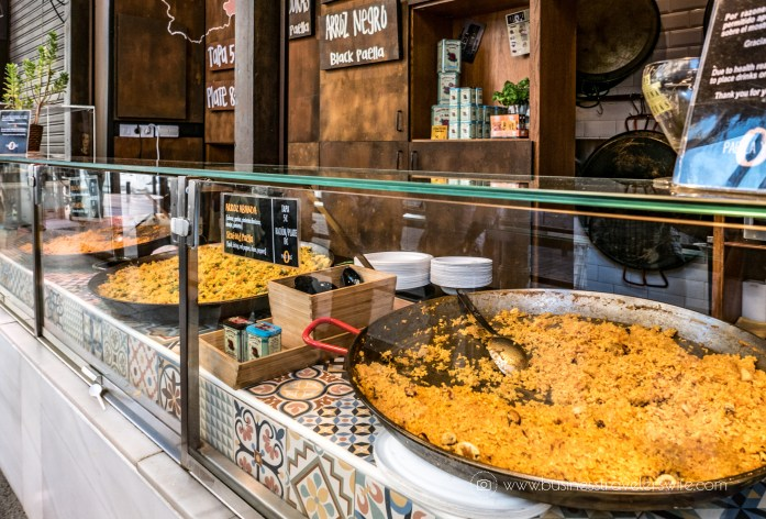 Experiencing the Best of Madrid in a Day - Explore, Eat, Stay Food Markets Mercado de San Miguel Paella