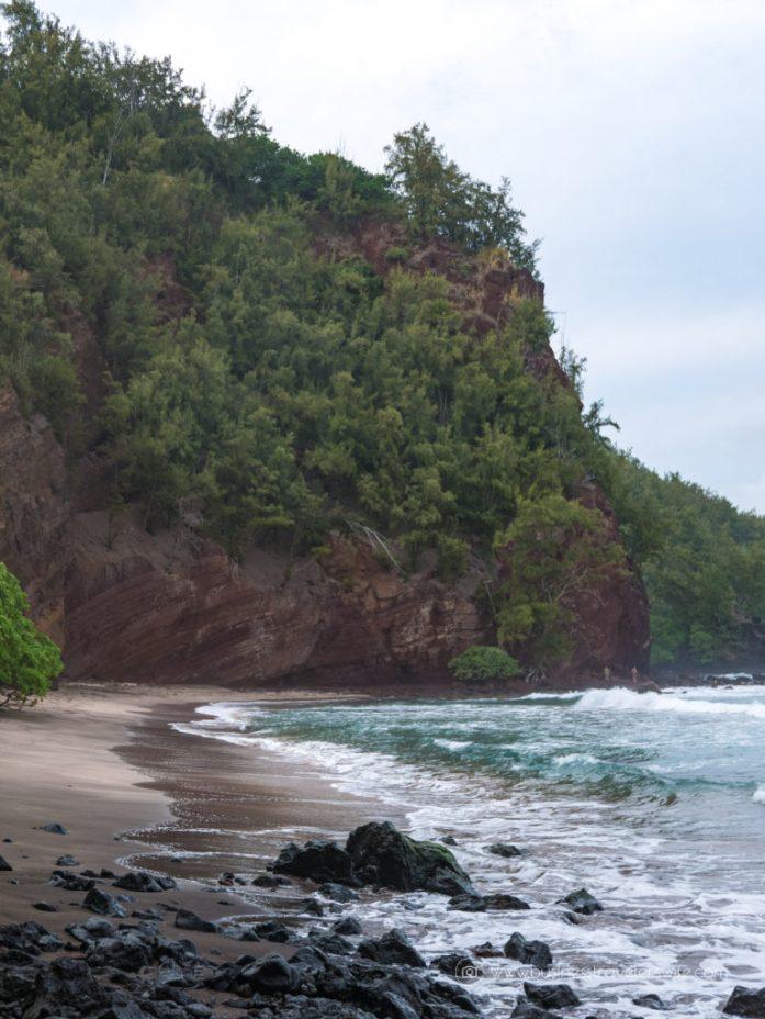 10 Memorable Stops on the Road to Hana for A Self-Drive Tour Maui, Hawaii Koki Beach Red Rock Alau Island