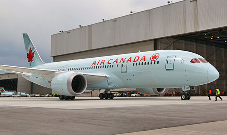 Air Canada maiden B787 flight