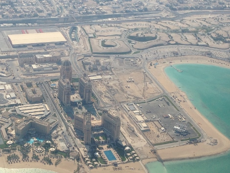 The St Regis and the Intercontinental Doha