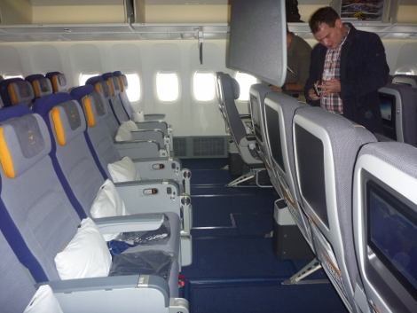 Lufthansa premium economy back row B747-8