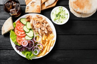 Greek Chicken Gyro Salad
