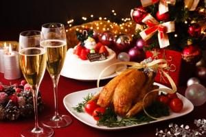 Christmas dinner dishes