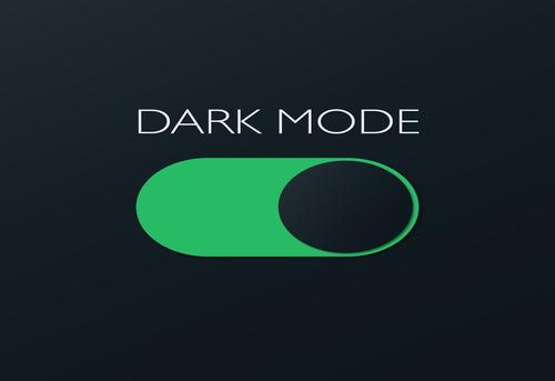Dark mode on