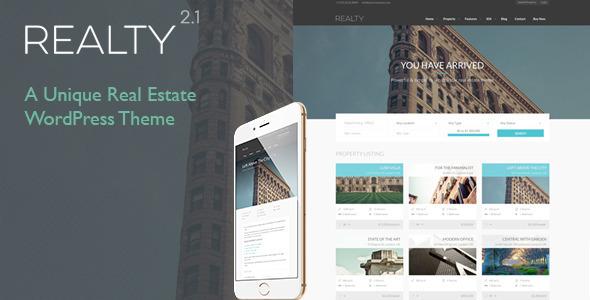 Realty v2.0 – Unique Real Estate WordPress Theme