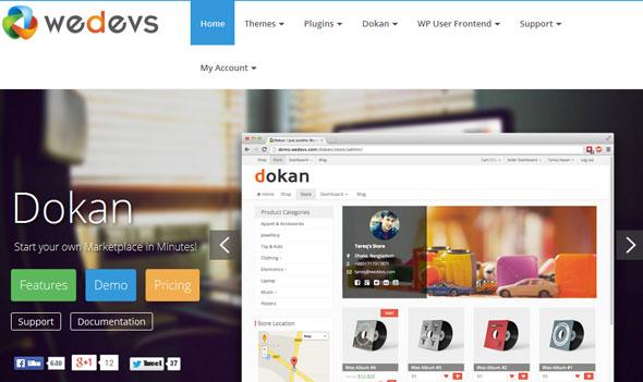 weDevs Dokan v1.0.4 – Multivendor e-commerce