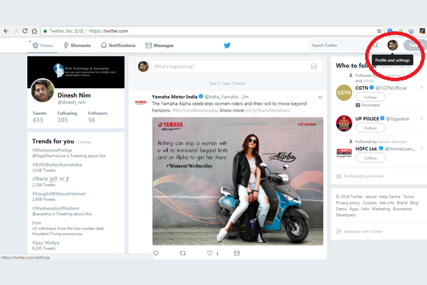 add two websites to twitter profile