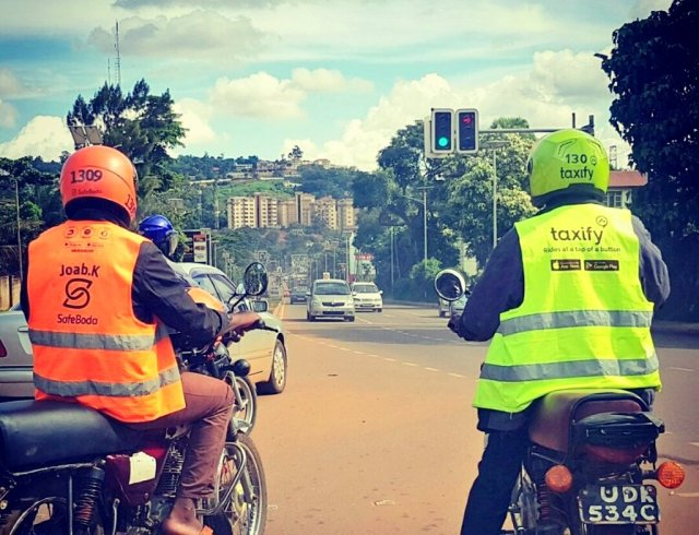 The riders invaded Taxify offices in Kampala demanding the company's explanation of why their bonuses were not reflecting on the system.