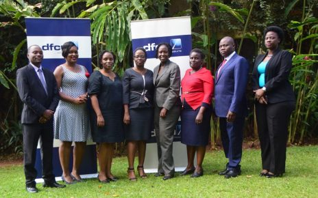 Members of the Women in Business Council with some of dfcu bank management