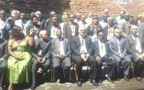 Participants the 16th African Wildlife Consultative Forum at the Speke Resort Munyonyo on Monday