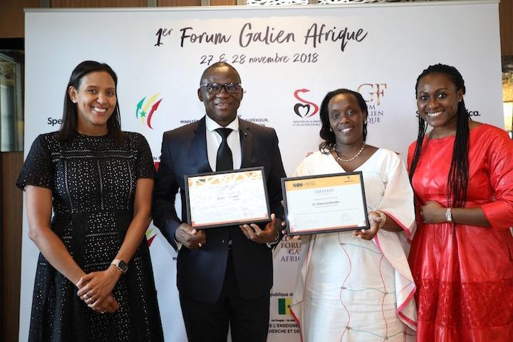 """""""Minister of Health of Rwanda, Dr. Diane Gashumba and Minister of Health of Burkina Faso support the launch the pan African """"No to NTDs"""" movement at the first Galien Forum Africa"""""""