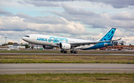The first A330-800 development aircraft to fly, MSN1888, has landed at Toulouse-Blagnac, France at 2:35 pm local time after successfully completing its first flight which lasted four hours and four minutes.