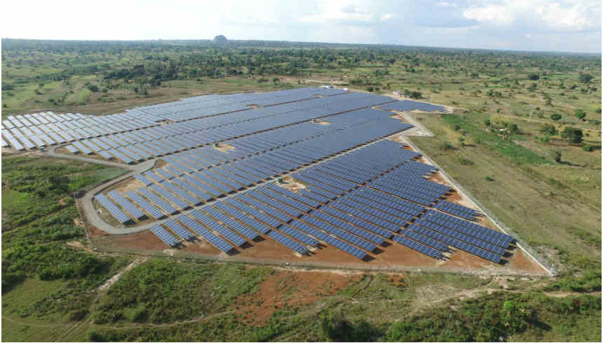 The Soroti solar plant in Uganda. By supporting small to medium-sized projects the current energy deficit in Africa can be rapidly reduced at a lower cost with a focus on many small and smart projects.