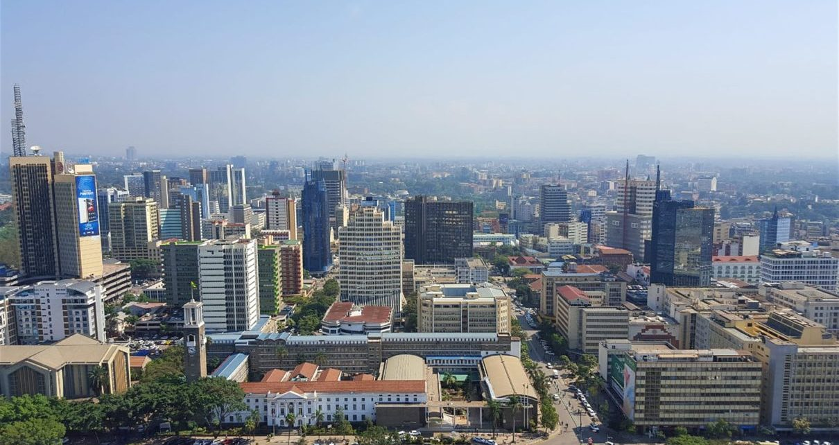 Nairobi city, kenya. Kenya's emergence from a period of political uncertainty should see it's GDP growth rebound to 5.4% this year after it dropped to 4.9% in 2017 (between 2012 and 2016 growth averaged 5.5%).