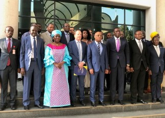 Jean Claude Brou, President of the ECOWAS Commission, Vice President of the ECOWAS Commission Finda Koroma, the Nigerian Ministry of Power, Works and Housing and Chairman of the Ministerial Steering Committee for the Abidjan-Lagos Corridor Highway Development Program, Babatunde Raji Fashola, attended the ceremony, which took place in Abuja, Nigeria.