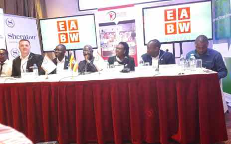 Facilitators during the press conference this morning at Sheraton Hotel Kampala