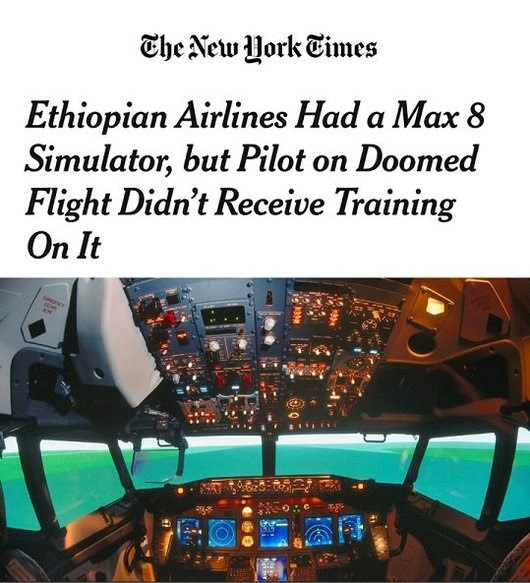 Ethiopian pilots have completed the Boeing recommended and FAA approved different training from the B-737 NG aircraft to the B-737 MAX aircraft before the phase-in of the B-737-800 MAX fleet to the Ethiopian operation and before they start flying the B-737-800 MAX.