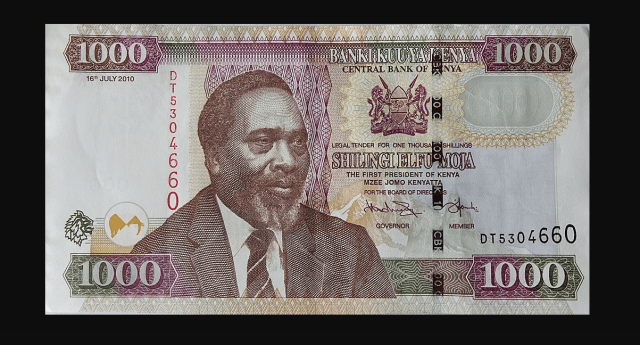 The Old KES1000. This Bank note will cease to be legal tender on October 1, 2019.