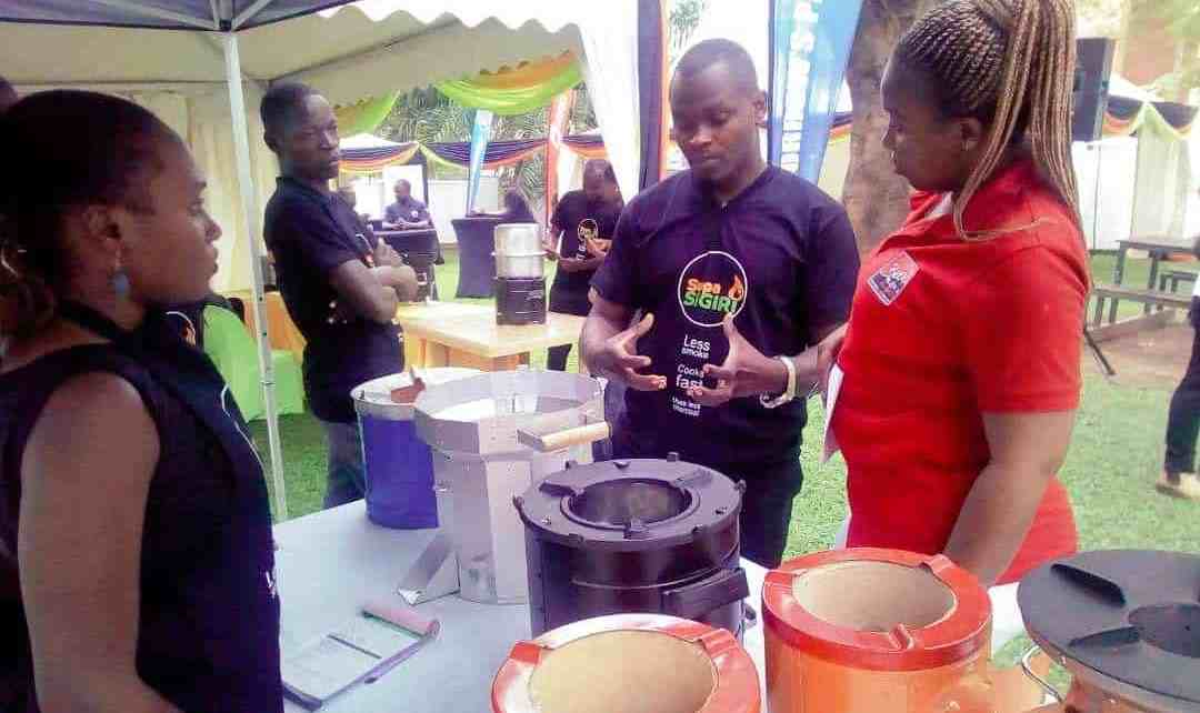 Supa Sigiri Sales Representatives showcase the different types of Supa Sigiris to revelers during the Supa Sigiri Cook Off held at Capital FM grounds on 23rd August 2019. Supa Sigiris come in 7 brands that are designed to use less charcoal, emit less charcoal and cook faster than ordinary sigiris.