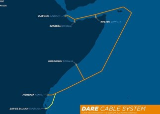 The submarine cable linking the coast of East Africa has officially landed in La Siesta Beach in Djibouti and the marine installation is underway.