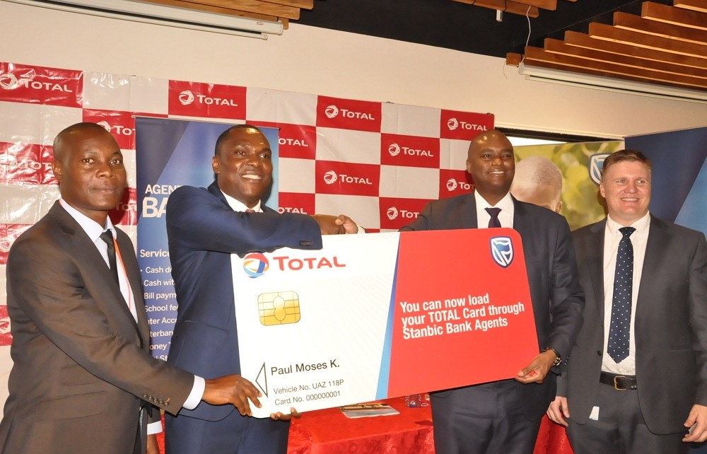 Total Uganda Limited and Stanbic Bank Uganda have announced a partnership that will see customers with prepaid Total Fuel Cards top-up more conveniently at over 1,500 Stanbic Agents across the country.