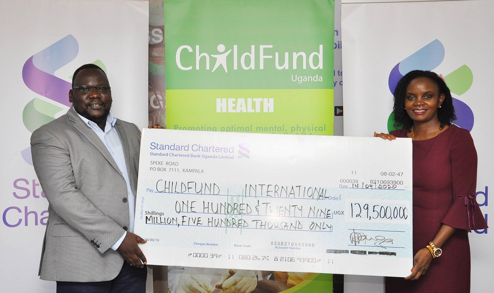 ChildFund Uganda Country Program has received UGX 129 million from Standard Chartered Bank Uganda towards the ongoing response to COVID19 prevention for Kampala Metropolitan Area in the divisions of Rubaga, Makindye, Nakawa and parts of Wakiso district.
