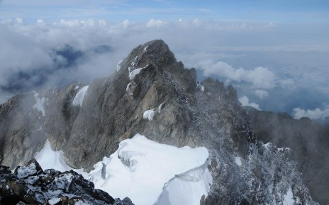 Mt Stanley at Rwenzori Mountains located in Western Uganda. Hikers are now allowed to climb the mountains after its opening to International Tourists.