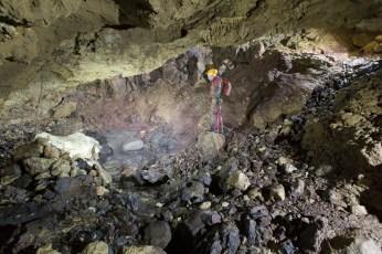 Sala dei Basalti a monte, Ramo Principale di Sinistra (foto Sandro Sedran S-Team)
