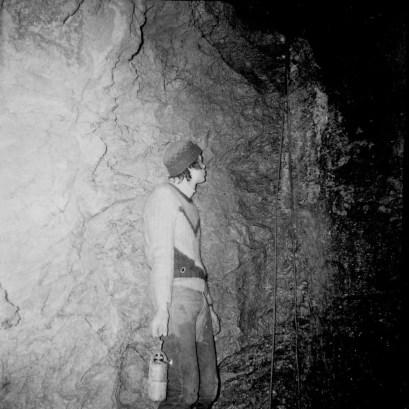 1970 Esplorazione del Ramo delle Cascate (foto Enrico Gleria)