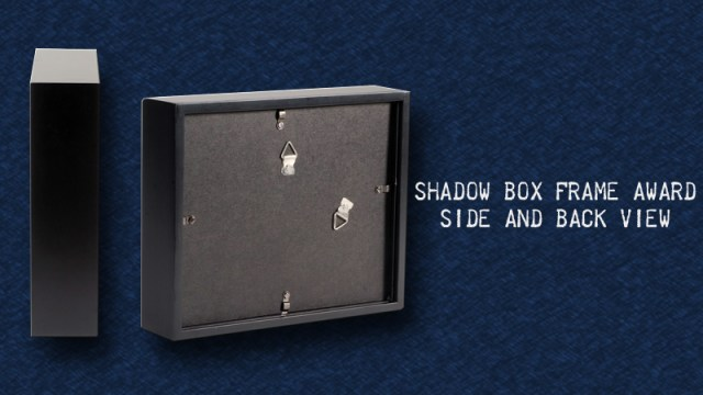 Our shadow box frame award is an 8×10 boxed frame with the artwork ...