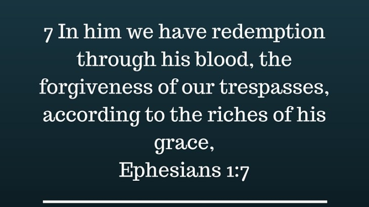 Redemption and forgiveness comes only from God's grace