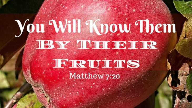 We are warned to stay away from false prophets. According to Jesus, you will know them by their fruits. The same goes for anyone. What fruit are you producing?
