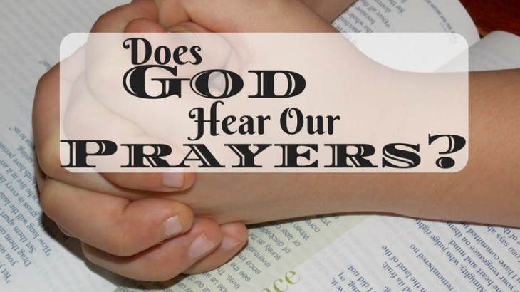 Do you seem to pray the same, fervent prayer with no answers. Does God hear us when we pray? Of course He does and He answers every single one.