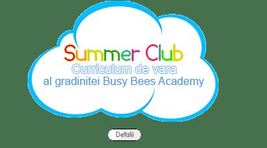 Summer Club curriculum de vara al gradinitei BBA