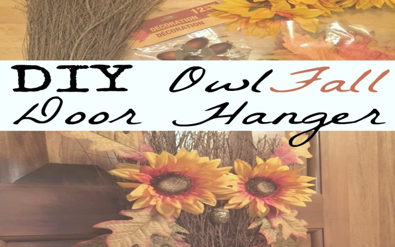 DIY Owl Fall Door Hanger