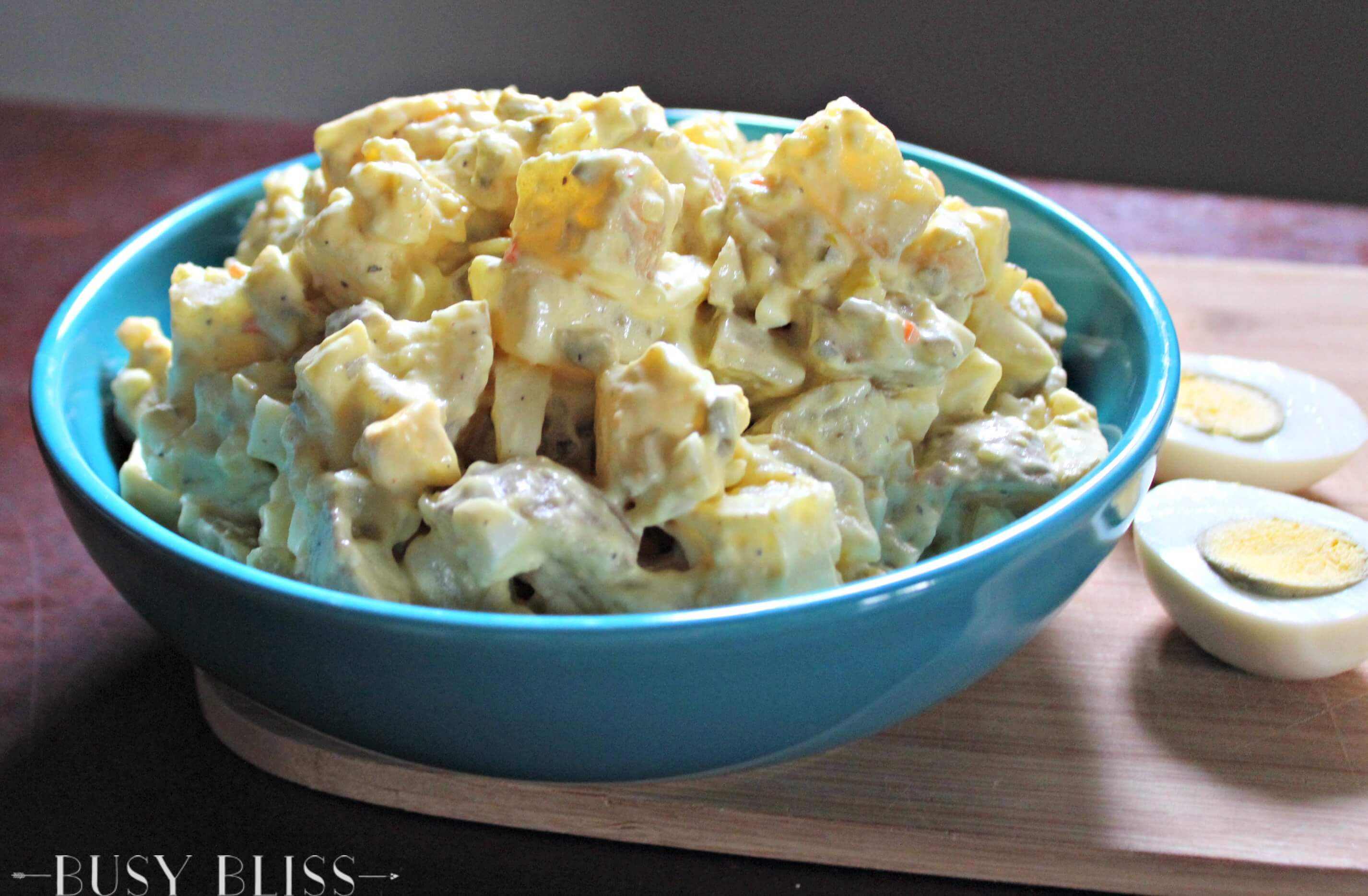 This is the absolute best potato salad recipe! Cook the potatoes in the pressure cooker for an easy side dish sure to please at your next barbecue.