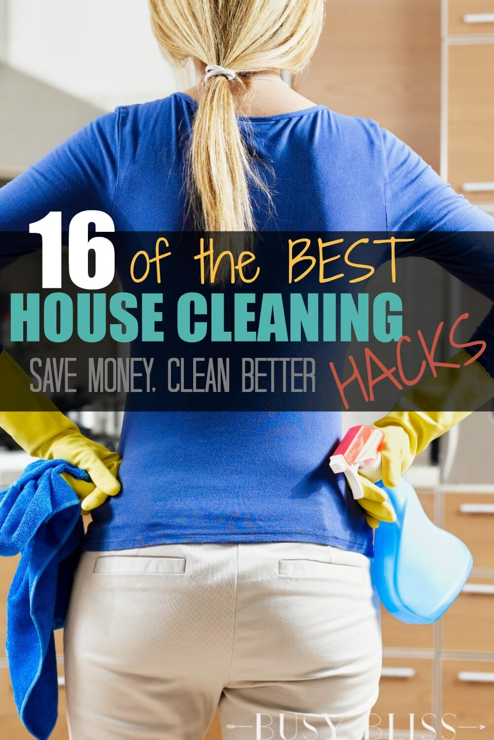 From homemade cleaners to easy cleaning tips, these house cleaning hacks will save you time, money, and quite possibly your sanity.