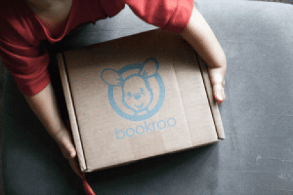 BookRoo monthly subscription box.
