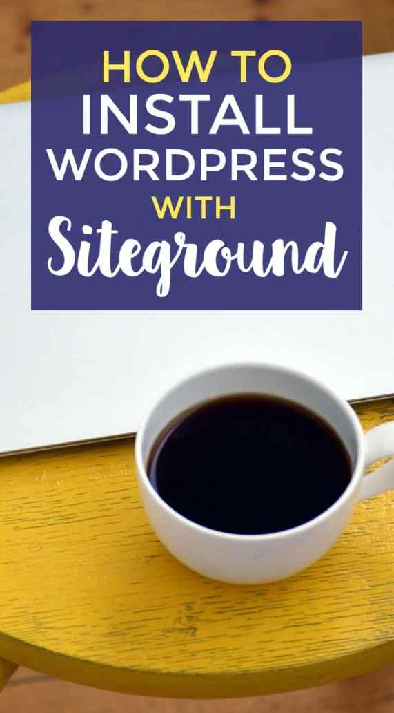 How to install WordPress using your Siteground hosting package and domain name.