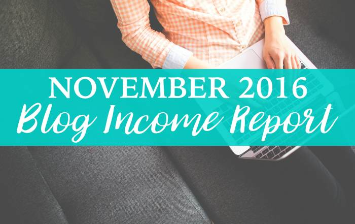 November 2016 blog income report is here!