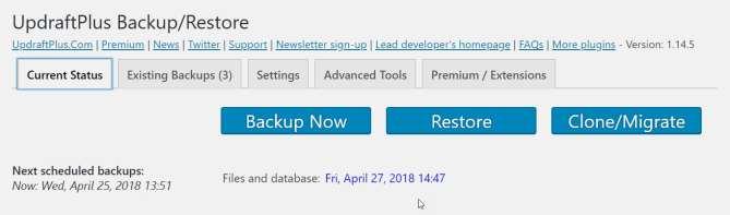 Manual Backup and Restore