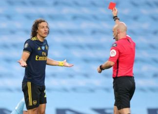 David-Luiz-Shown-Red-Card
