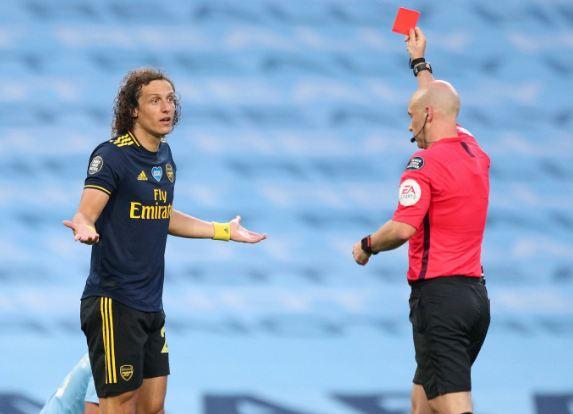 David-Luiz-Shown-Red-Card