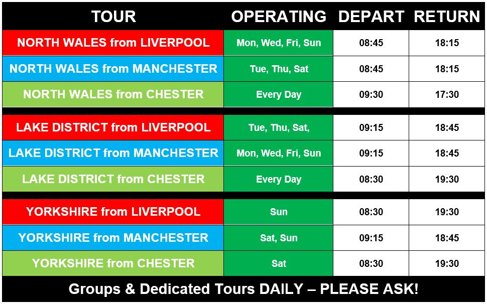 BusyBus Tour Schedule and Timetable